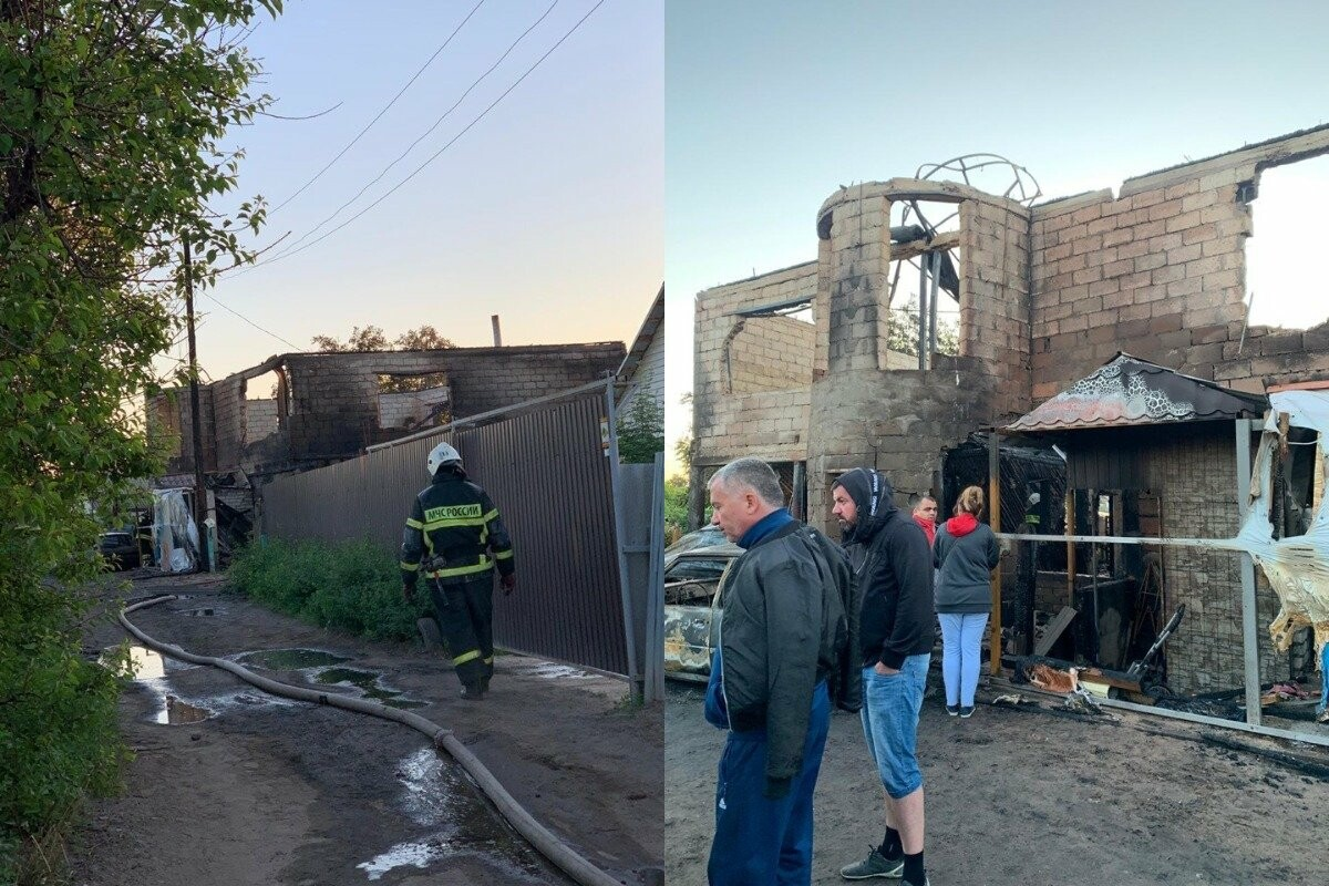 Дом семьи с пятью детьми дотла сгорел в Волжском, причина - скачок напряжения, фото-3