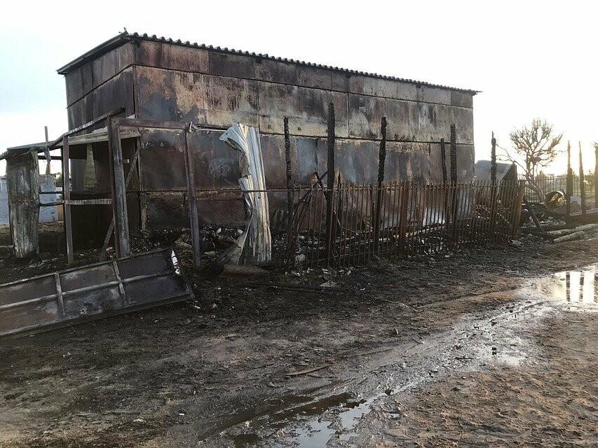 Под Волгоградом горела конюшня, фото-1